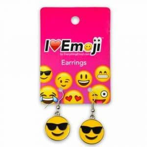 Sunglasses Smiley Emoji Earrings