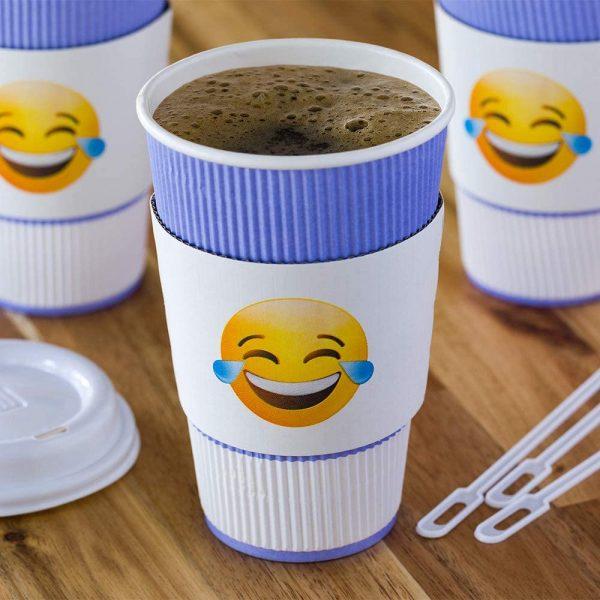 Tears of Joy Emoji Coffee Cup Sleeve
