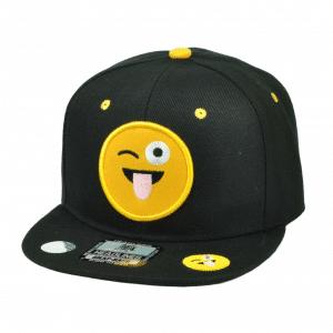 Wink Tongue Out Emoji Snapback Cap