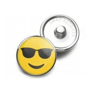 Charm Button Sunglasses Smile Emoji