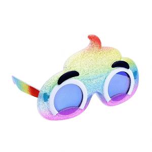 Rainbow Poop Emoji Sunglasses