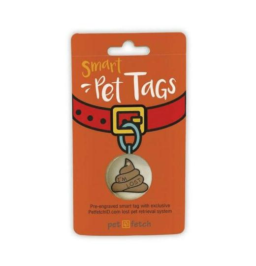 Smart Pet Tag Im Lost Poop Emoji