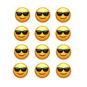 Smile Sunglasses Cupcake Topper Prints Edible