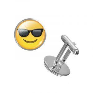 Smile Sunglasses Emoji Cufflinks