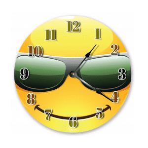 Smile Sunglasses Emoji Wall Clock