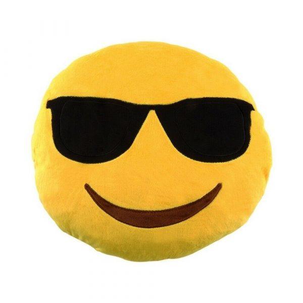 Sunglasses Emoji Smiling Pillow